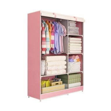 Lemari Portable Medium Motif Scenery jual lemari kain resleting bongkar pasang terbaik blibli