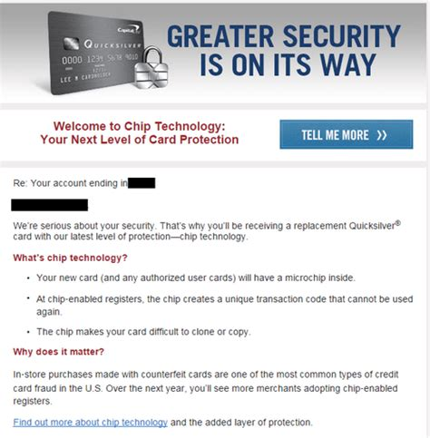 Credit Card Upgrade Letter Capital One Quicksilver Now With Emv Chip Doctor Of Credit