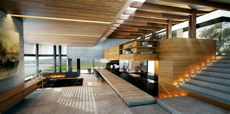 Impressionnant Decorer Sa Maison Pas Cher #2: Interieur-maison-bois-design-moderne.jpeg