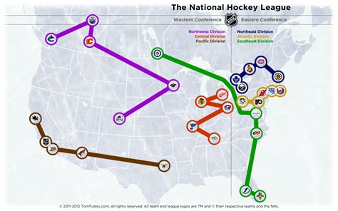 nhl map the south l east division the home of the nhl realignment project the home of the nhl