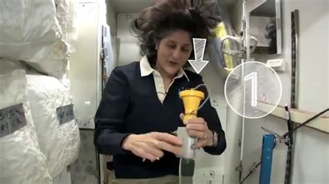 using the bathroom in space tour of the international space station toilet youtube