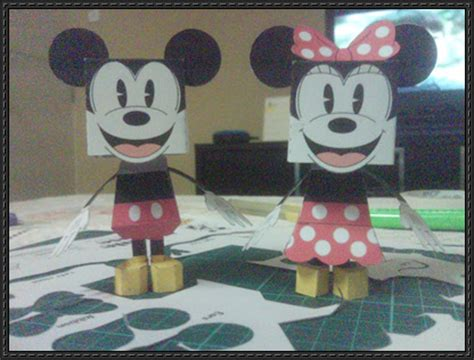 Minnie Mouse Papercraft - papercraftsquare new paper model mickey and minnie