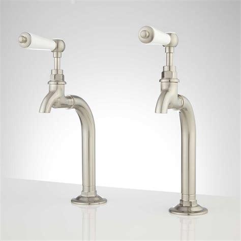 douglass bridge kitchen faucet porcelain lever handles rogers kitchen basin faucet with porcelain lever handles
