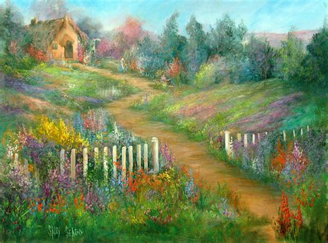 Cottage Garden Paintings by Cottage Garden By Sally Seago