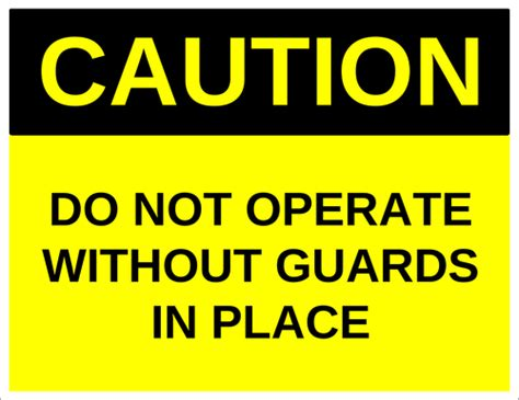 Caution Do Not Operate Without Guards In Place Label Label Templates Ol175 Onlinelabels Com Caution Label Template