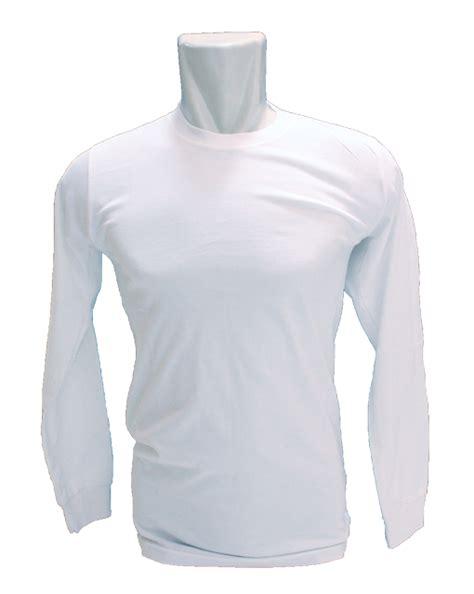 Kaos Bullshirt Lengan Panjang Putih warna dan ukuran kaos rumahsabloncepat