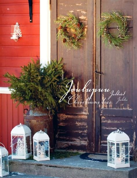 outside home decor ideas outdoor decorating ideas old fashion country christmas