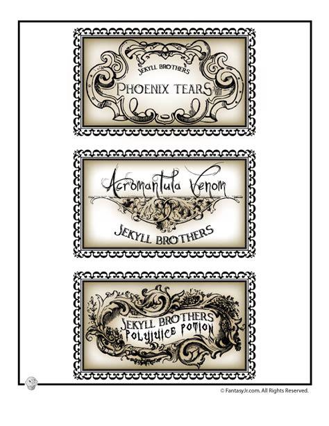 printable potion labels harry potter potions lab labels halloween pinterest