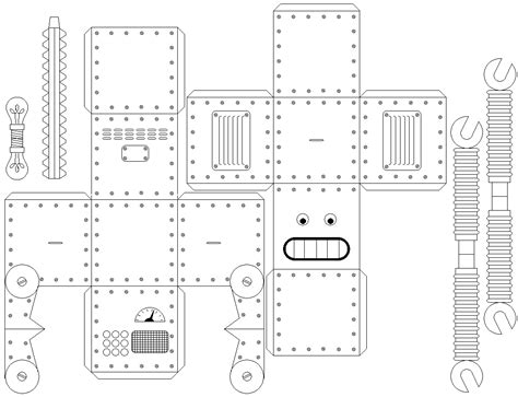 printable robot templates image gallery robot template
