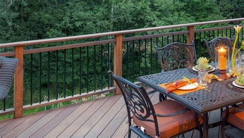 continuous  double top  metal balusters