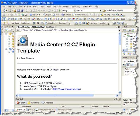plugin template mc plugin template for visual studio jriverwiki