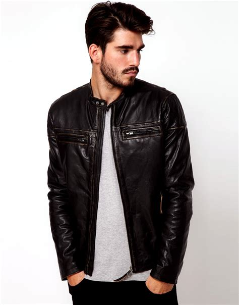 mens leather jacket asos leather jackets collection 2012 13 for casual