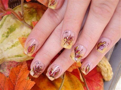 Nägel Bilder by Autumn Leaf Nails Pictures Photos And Images For