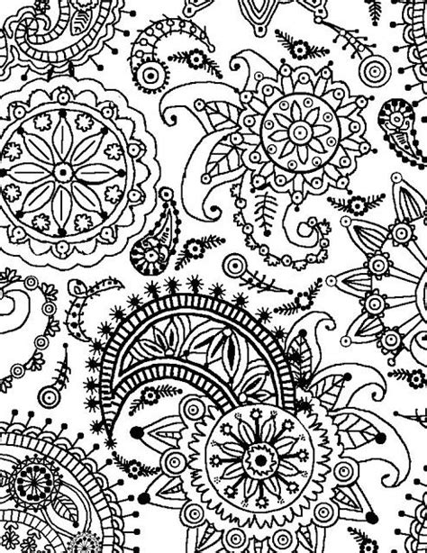 cool designs to color pattern coloring pages paisley flower pattern portrait