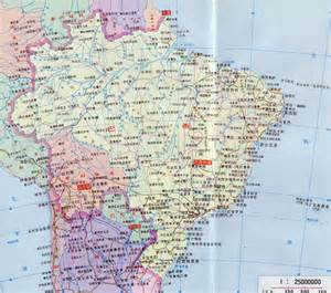 cities map large detailed map of brazil with roads and cities in