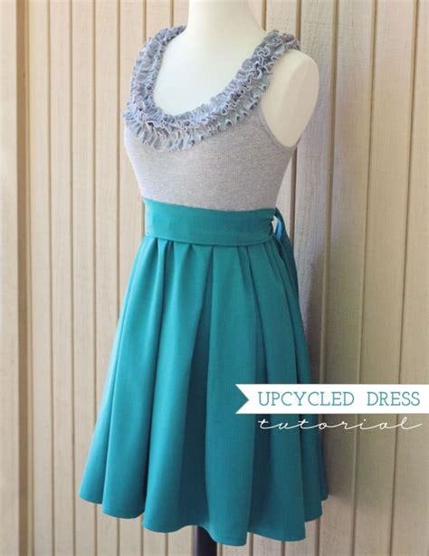 How To Upcycle A Dress - upcycled ruffles dress tutorial stuff to sew pinterest