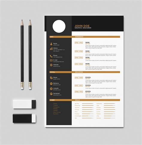 Best Resume Templates Photoshop by Free Cv Resume Indesign Pdf Template On Behance