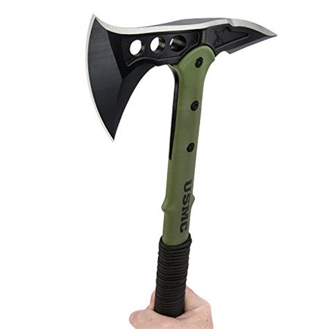 usmc tactical tomahawk united cutlery m48 u s m c tactical tomahawk axe green
