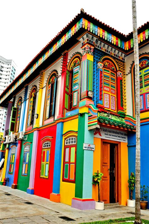 colorful buildings colorful building in singapore pais colourful