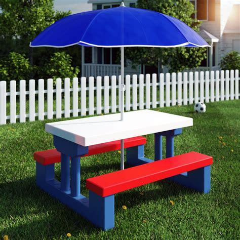 Kinder Sitzgruppe Garten by Kinder Sitzgruppe Sonnenschirm Garten Kindertisch Tisch Bank Stuhl Sitzgarnitur Ebay