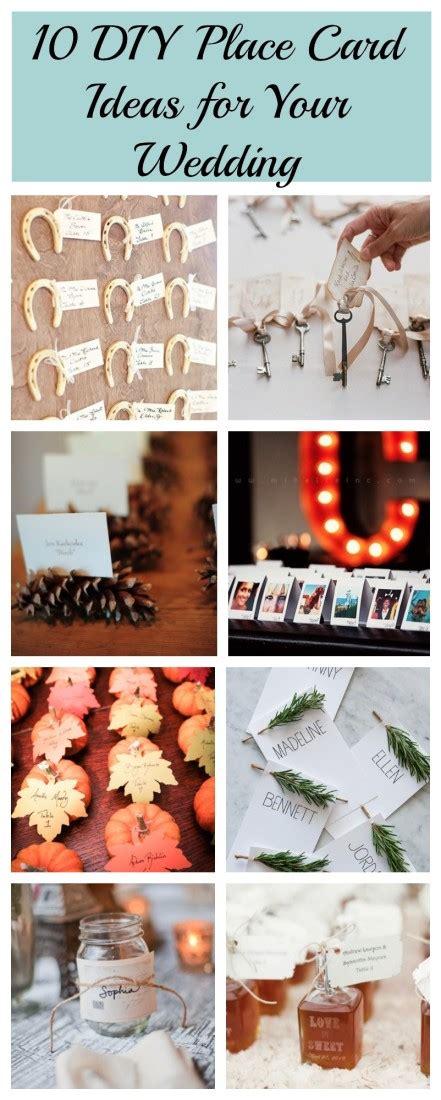 easy diy wedding place cards 10 diy place card ideas rustic wedding chic