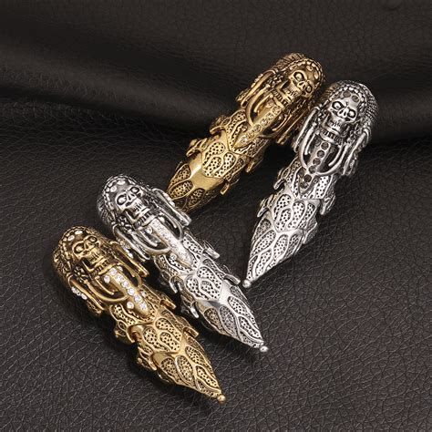 fashion retro cool silver gold mens rings for