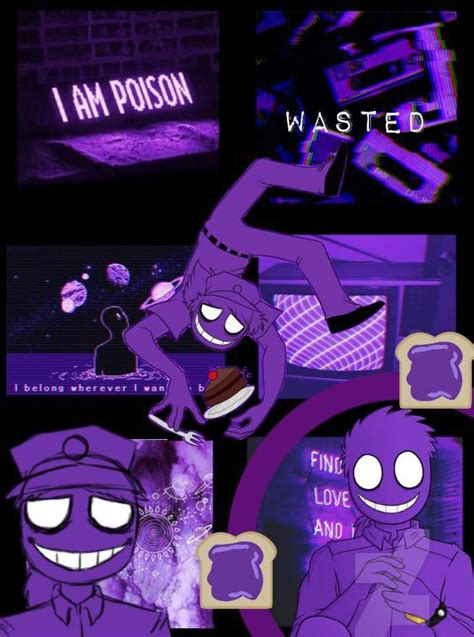 fnaf purple guy collage   fnaf wallpapers anime