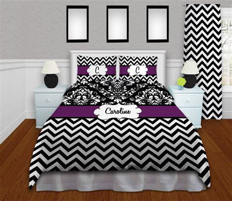 purple chevron bedding purple chevron bedding damask bedding personalized duvet