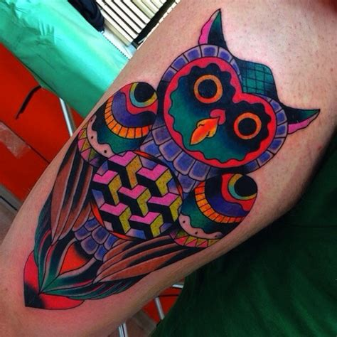 colorful owl tattoo designs 120 owl tattoos that will keep you awake