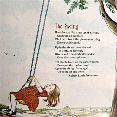 the swing by robert louis stevenson best 25 robert louis stevenson poems ideas on pinterest