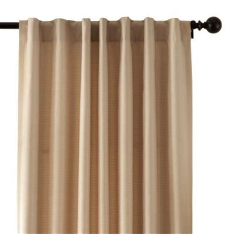 home decorators collection taupe textured thermal back tab