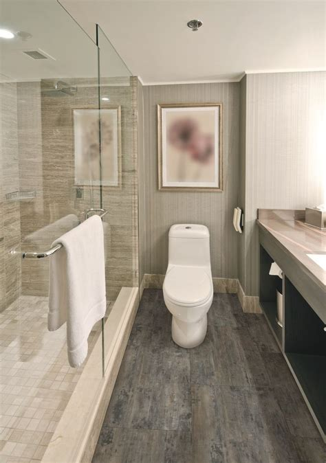 COREtec Plus tile   Petrified Forest   modern bathroom