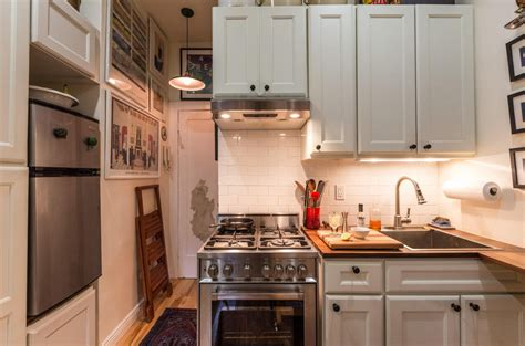 tiny apartment kitchen couple turns a 22 sqm new york apartment into a cozy home