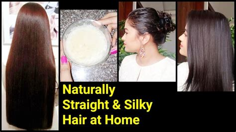 home tricks to make the hair straight from top and curly from bottom magical home remedy to get naturally straight silky hair