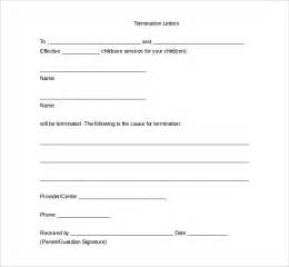Free Termination Letter Template by 20 Free Termination Letter Templates Free Sle