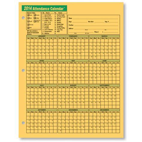 attendance calendar template printable employee attendance calendar template 2015