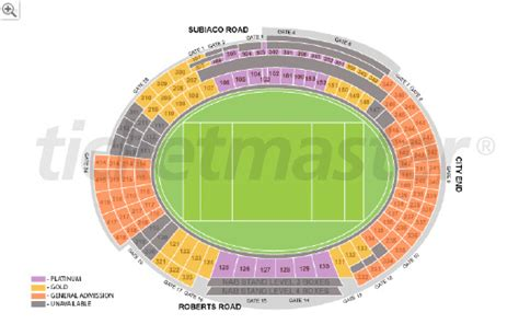 subiaco oval seating map patersons stadium subiaco oval discussion page 4