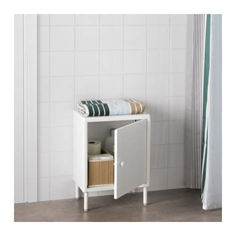 Bathroom Storage Solutions Ikea Dynan Cabinet With Door White 40x27x56 Cm Ikea
