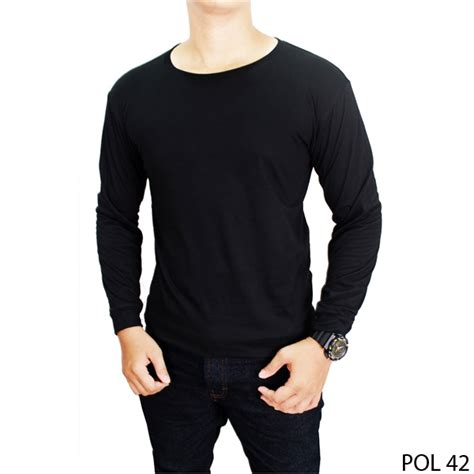 Kaos Djeprut Nakal Pria Original New 4 basic tshirt unisex kaos polos o neck lengan panjang 100 cotton size mlxl new update best