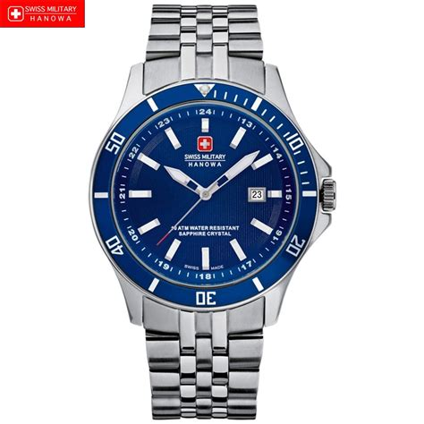 swiss watches swiss hanowa 6 5161 2 04 003 s blue