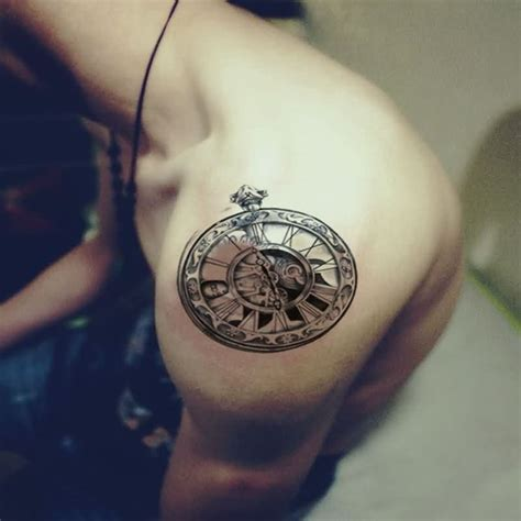 small clock tattoo 61 stunning clock shoulder tattoos