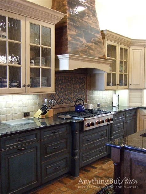 Antique Finish Kitchen Cabinets Cabinetry With Antique Finish Kitchen Houston By Anything But Plain Inc