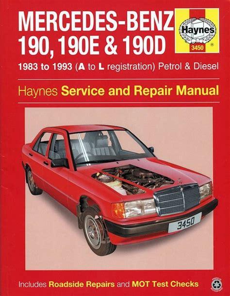 mercedes benz 190 190e 190d repair manual 1983 1993 haynes 3450
