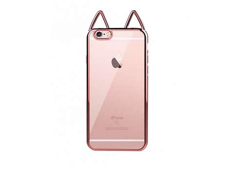 coque iphone 6 plus 6s plus rosegold cat ears master