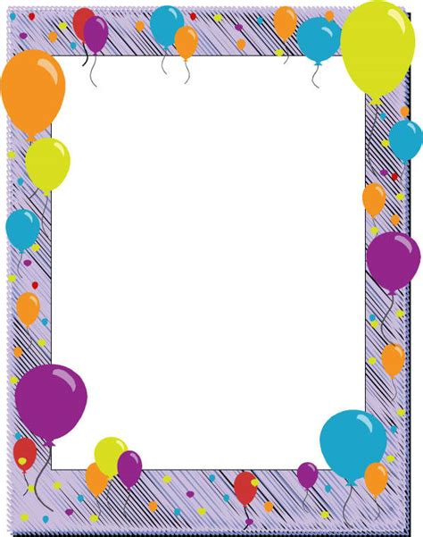6 Free Borders For Birthday Invitations Free Printable Birthday Borders And Frames