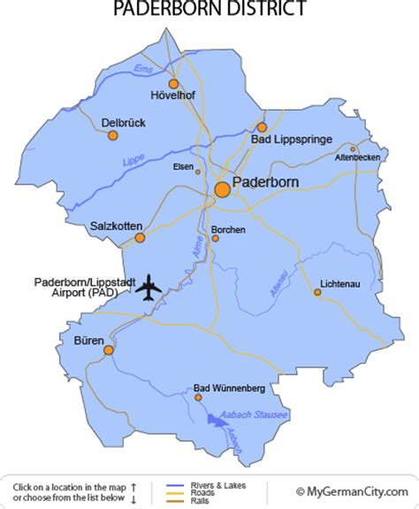 paderborn map the paderborn district offers leisure and