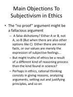 Essays Subjectivism In Ethics by Ppt Cultural Relativism And Subjectivism In Ethics Powerpoint Presentation Id 389920