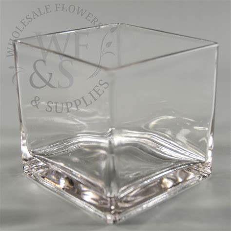 Glass Cube Vase by 4 Quot Square Glass Cube Vase Wholesale Flowers And Supplies