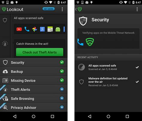 android lookout lookout antivirus for android 28 images lookout security antivirus better safe than sorry