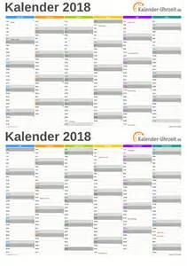 Calendar 2018 Deutschland Excel Kalender 2018 Kostenlos